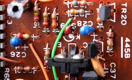 ic: components of electronic circuits Stock Photo