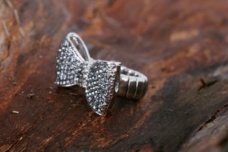 bijoux:  Fashion ring on wood
