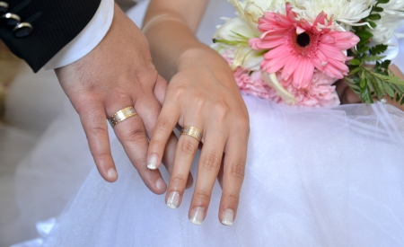 betroth: wedding hands