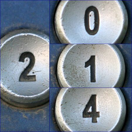 Happy new year unique with telephone keypad numbers photo