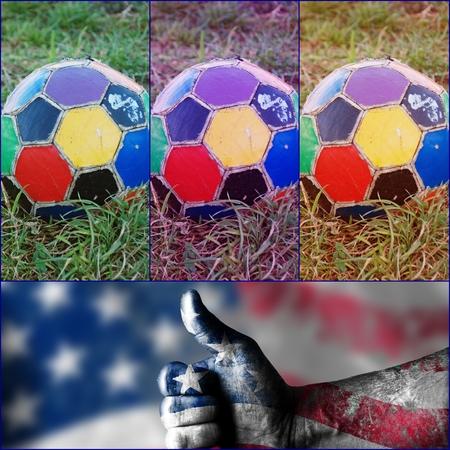 helvetia: usa like soccer Stock Photo