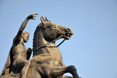 conqueror: monument of Philip Macedonian in Bitola, Macedoni