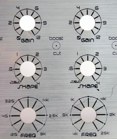 adjust: empty control knobs Stock Photo