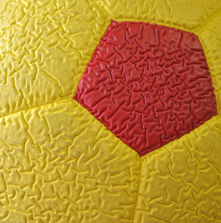quot: Yellow red soccer ball