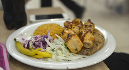 Chicken shish kebab photo