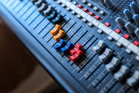 Professional audio mixer Stock Photo