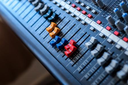 Professionelle Audio-Mixer Lizenzfreie Bilder