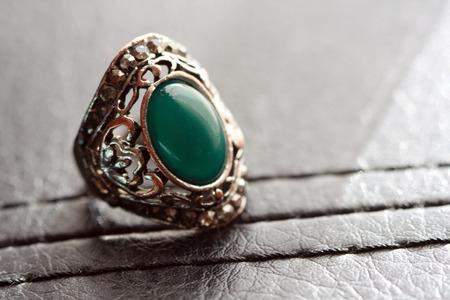 male fashion: Male fashion ring with gem