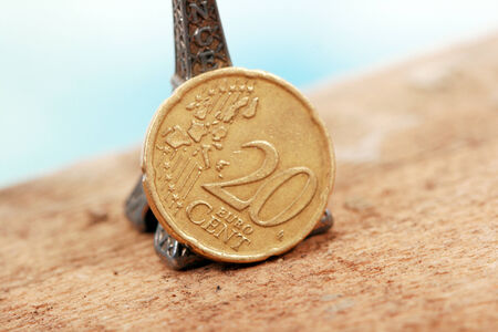 five cents: 20 euro cents Stock Photo