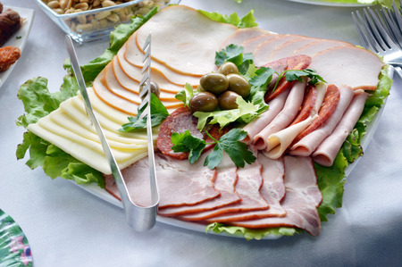 cold cuts platter photo