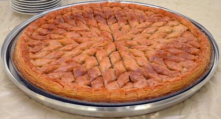 plate of  homemade turkish baklava photo