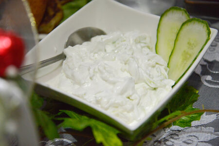tzatziki: tzatziki,cacik Stock Photo