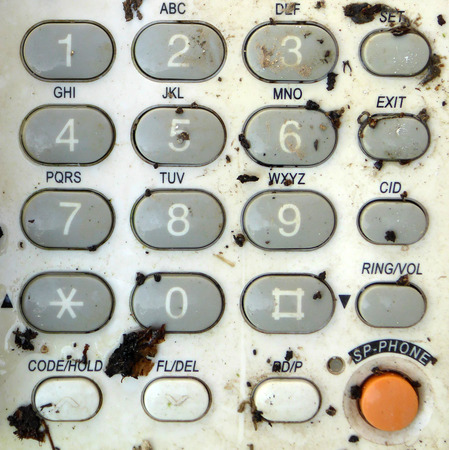 Dirty old phone keypad photo