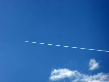 contrail: Airplane with contrail
