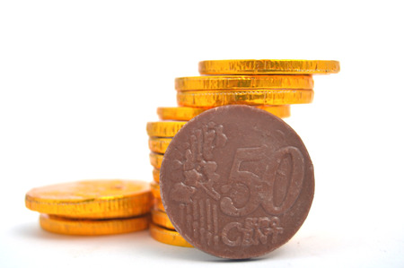 Chocolate euro gold coins