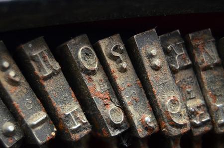 Vintage typewriter keys photo