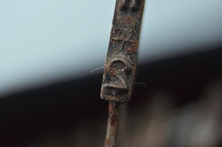 Vintage typewriter keys, 2 photo