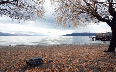 Lake Prespa in Macedonia photo