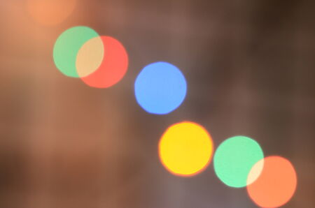 Festive Background With Natural Bokeh Stock Photo