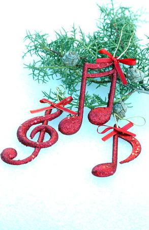 vibrations: Music note,Christmass background, decoration Stock Photo