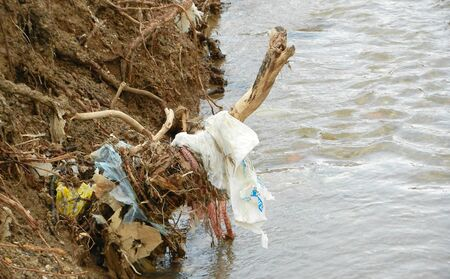 plastic pollution: Picture of   Plastic pollution    water   , environment     issue