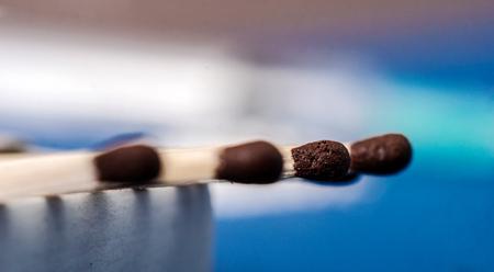 matches: Imagen de primer plano de partidos Foto de archivo