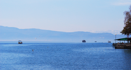Picture of a Lake Ohrid, Macedonia .Ohrid is famous tourist destination on the Balkans, photo