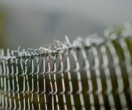 prison system: New barbed wire, picture of a