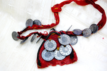 Picture of a Vintage traditional  necklace  with coins from Macedonia photo