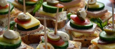 grapes and mushrooms: Catering food, picure of a well decorated catering food