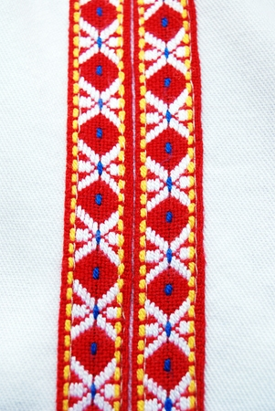 macedonian: Picture of a Traditional macedonian costume, details