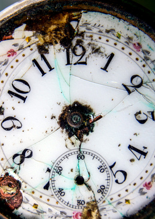out of order: picture of old  out of order watch pocket watch Stock Photo