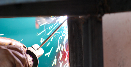 fabricator: Welding in manufacturing plant, picture of a