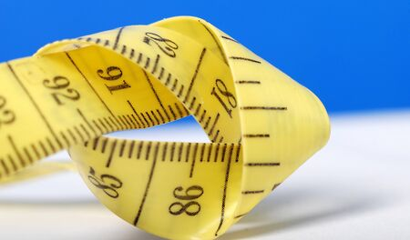 lint: Picture of a Rolled measuring lint , tape