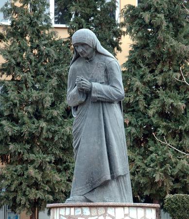 calcutta: Statue of Mother Teresa in StrugaMacedonia