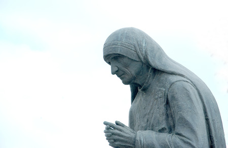 Statue of Mother Teresa in StrugaMacedonia