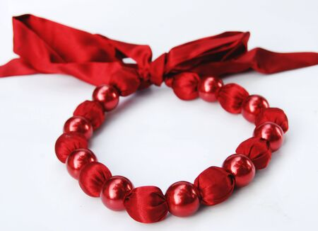 fetishes: Red beads  fashion necklace