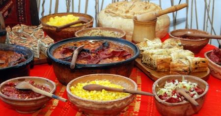Traditional macedonian and balkans food