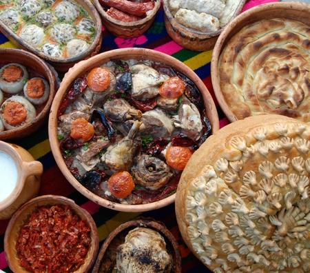 balkans: Traditional macedonian and balkans food