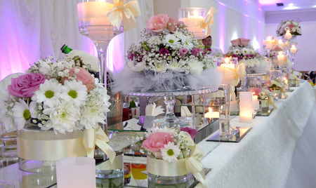 Picture of a  beautifull Wedding table decoration Banco de Imagens