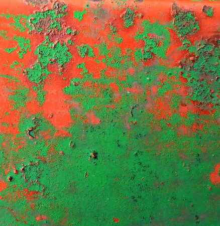 Texture of a  metal rusty painted surface photo