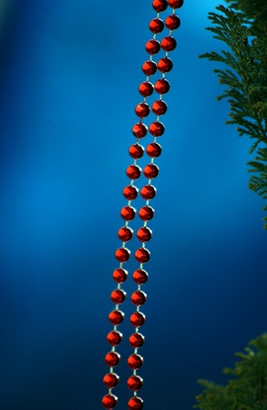 bijoux: Picture of a Red bijoux necklace beads