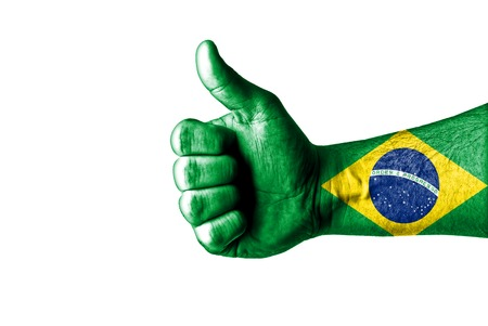 brasilia: Picture of a thumbs up . Like Brazil, Like concept