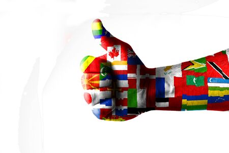 helvetia: Picture of a thumbs up . Like UN, Like concept Stock Photo