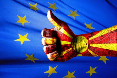 helvetia: Picture of a thumbs up . Like Macedonia , Like concept