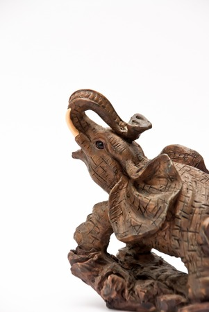 figurine: Picture of a wooden Elephant Figurine Stock Photo