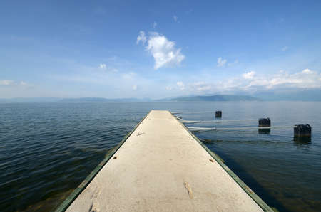 ponton: Picture of a Lake Prespa, acedonia