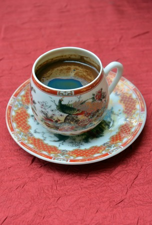chinesse: Picture of a Turkish coffee in a chinesse pot Stock Photo