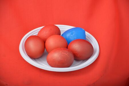 holyday: Picture of a Red Easter egg. Holyday concept
