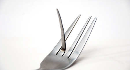 provocation: Picture of a fuck off  fork